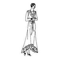 1933 Sleeveless Nightgown Pattern