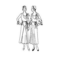 1931 - 1932 Dress with Side-tie Collar