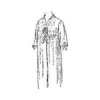 1906 Ladies' Empire Nightgown Pattern