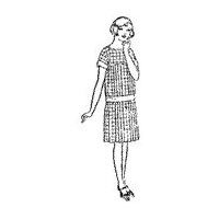 1925-1926 Girls' and Little Girls' Slip-On One-Piece Dress Pattern