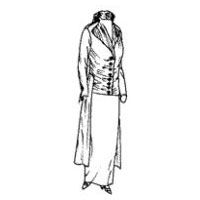 1912-13 Lady's Redingote or Coat