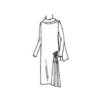 1928-29 Dress with Side Fullness and Scarf Collar