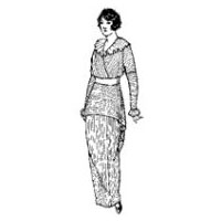 1911 - 1914 Ladies' Dress with Surplus Blouse in Drop-Shoulder Style Pattern