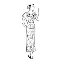 1934-35 Summer Dress with Button Front Yoke