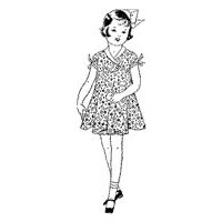1935 Girls' Sun Dress with Bloomers Pattern