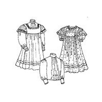 1910 Girls' Empire Dress Pattern by Past Patterns
