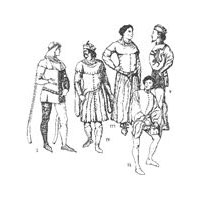 1340-1420 Men's Cotehardies and Sideless Surcoats Pattern