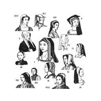 1490-1580  Tudor Era Headdresses Pattern
