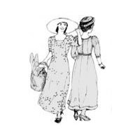 1909 Edwardian Dress Pattern