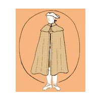 1600-1800 Men's Cape Pattern