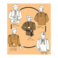 1700-1820 Men's Shirts Pattern in Five Styles