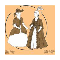 1750 - 1785 Ladies' Dress Pattern