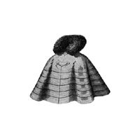 1897 Tailor Made Cape with Fur Collar Pattern
