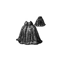 1897 Cape with Fitted Back Pattern