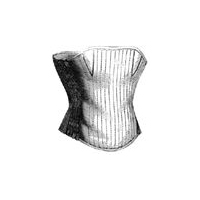 1869 Corset for Girl 8-10 Years Pattern