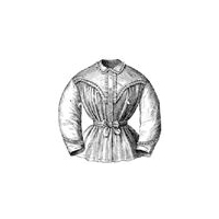1869 Ladies Ruffled Night Jacket Pattern