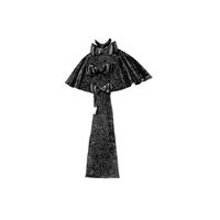 1895 Moir� Cape with Jetted Embroidery Pattern