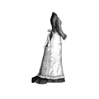1878 Muslin Kitchen Apron Pattern