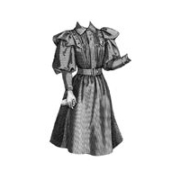 1893 Frock for Girl 7-9 Years Pattern