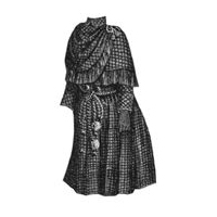 1888 Brown Cloak for Girl 8-10 Years Pattern
