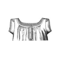 1887 Chemise with Braid