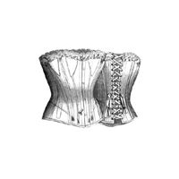 1890 Twill Corset for Stout Lady