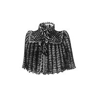 1891 Black Saxony Cape Pattern