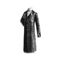 1912 Black Wool Demi-Season Coat Pattern