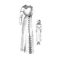 1912 White Serge Dress Pattern