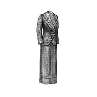 1912 Candy Striped Suit Pattern
