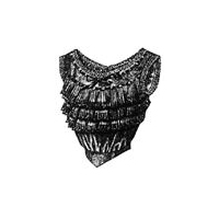 1912 Black Silk Corset Cover with Frills