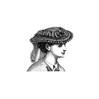1869 Figured Percale Garden Hat