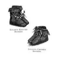 1868 Infant's Crochet & Knitted Bootees Pattern