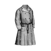 1869 Gentleman's Gray Dressing Gown Pattern