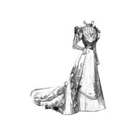 1897 Bridal Gown of Moir� & Chiffon