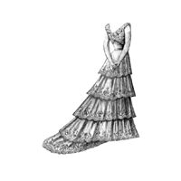 1899 Ball Gown with Loose Train Pattern