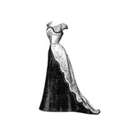 1899 Ball Gown with Fur Edging Pattern