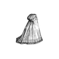 1868 Underskirt with Train & Bustle Pattern