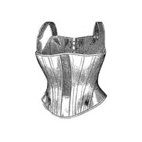 1877 Corset for Girl 5-7 Years Pattern