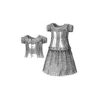 1877 Batiste Dress for Girl 5-7 Years Pattern