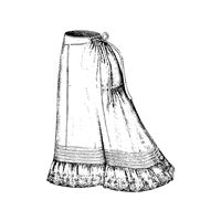 1877 Petticoat with Embroidered Flounce