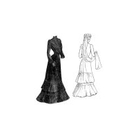 1901 Mourning Dress Pattern