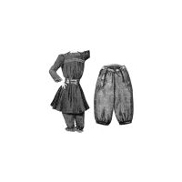 1901 Gymnastic Costume For Girl Pattern