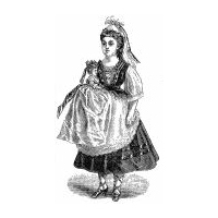 1876 Doll's Peasant Cap & Bodice Pattern