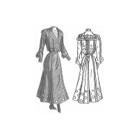 1901 Embroidered Dress for Girl 15-16 Years Pattern