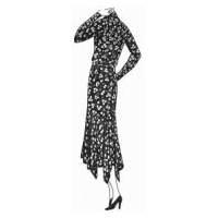 1930 Dress in Printed Crepe de Chine Pattern