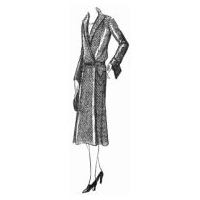 1930 Coat Dress in Wool Blend Pattern
