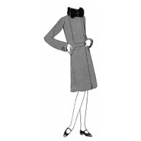 1930 Velvet Coat for Girl 14 Years Pattern