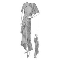 1930 Evening Gown of Georgette Crepe Pattern