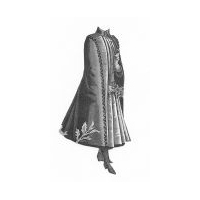1889 Long Cloak for Girl 11-13 Years Pattern